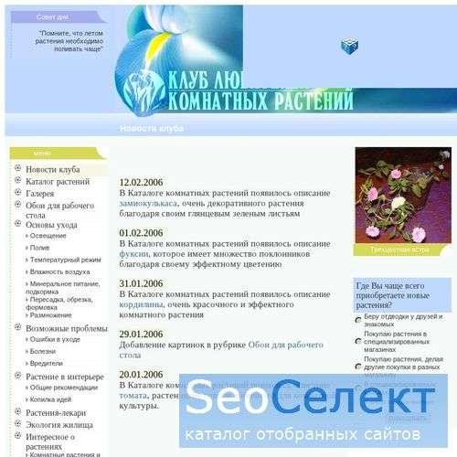 Клуб любителей комнатных растений - http://rastenie.permonline.ru/
