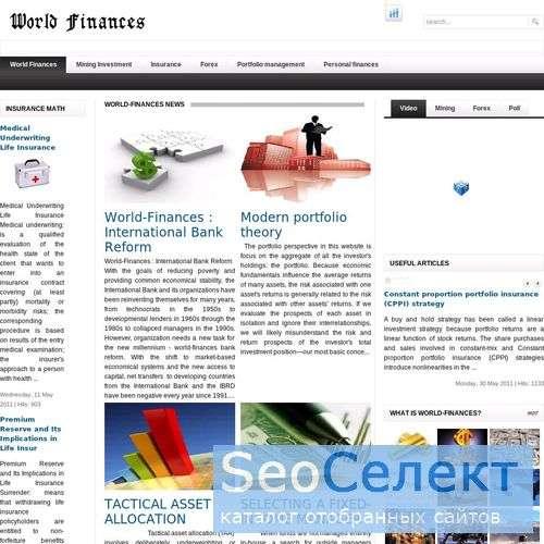 World Finances - your personal finance guide. - http://world-finances.com/