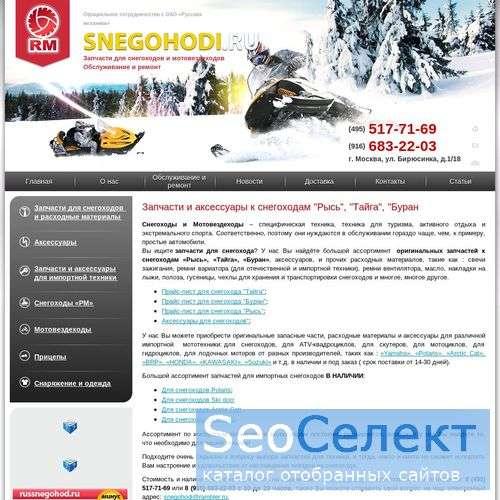 Ремонт снегоходов - http://www.snegohodi.ru/