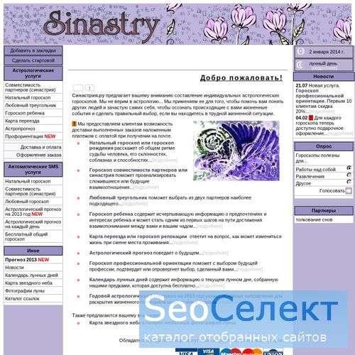 Совместимость партнеров на Синастрия.ру - Индивиду - http://Sinastry.ru/